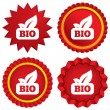 Bio product sign icon. Leaf symbol. — Foto de Stock