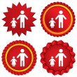 One-parent family with one child sign icon. — Stock Photo #42454001