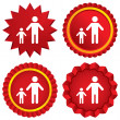 One-parent family with one child sign icon. — Stock Photo #42454007