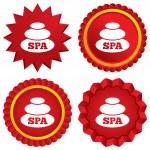 Spa sign icon. Spa stones symbol. — Stock Photo