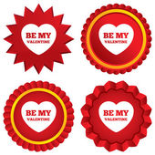 Be my Valentine sign icon. Heart Love symbol. — Stock Photo