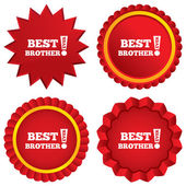 Best brother ever sign icon. Award symbol. — Stock Photo