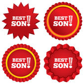 Best son ever sign icon. Award symbol. — Stock Photo