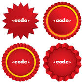 Code sign icon. Programming language symbol. — Foto Stock