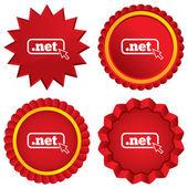 Domain NET sign icon. Top-level internet domain — Stock Photo