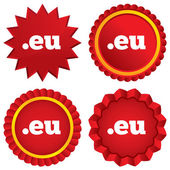 Domain EU sign icon. Top-level internet domain — Stock Photo