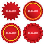 Domain EU.COM sign icon. Internet subdomain — Stock Photo