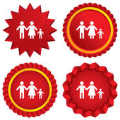 Complete family with one child sign icon. — Stock Photo