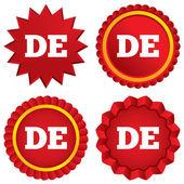 German language sign icon. DE Deutschland. — Stock Photo