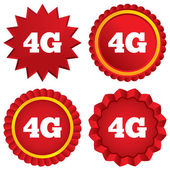 4G sign. Mobile telecommunications technology. — Stock Photo