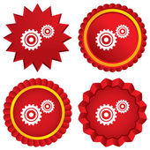 Cog settings sign icon. Cogwheel gear symbol. — Zdjęcie stockowe