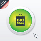 Big sale bag sign icon. Special offer symbol. — ストックベクタ