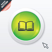 Book sign icon. Open book symbol. — 图库矢量图片