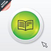 Book sign icon. Open book symbol. — Vector de stock