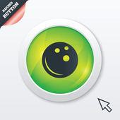 Bowling ball sign icon. Bowl symbol. — ストックベクタ