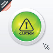 Attention caution sign icon. Exclamation mark. — Stock Vector