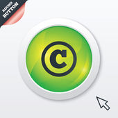 Copyright sign icon. Copyright button. — Vector de stock