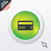 Credit card sign icon. Debit card symbol. — Vector de stock