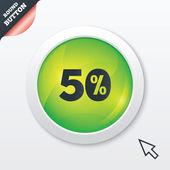 50%折扣的标志图标。出售符号. — 图库矢量图片