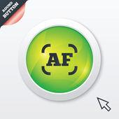 Autofocus photo camera sign icon. AF Settings. — Stock Photo