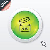 Po otwarciu używać ikona znak 6 miesięcy. — Zdjęcie stockowe