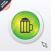 Glass of beer sign icon. Alcohol drink symbol. — Foto de Stock