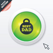 Best dad sign icon. Award weight symbol. — ストック写真