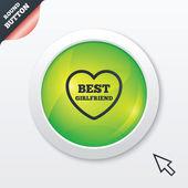 Best girlfriend sign icon. Heart love symbol. — Stock Photo