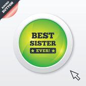 Mejor hermana nunca firme icono. símbolo del premio. — Foto de Stock