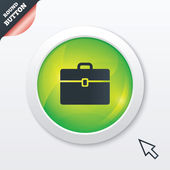 Case sign icon. Briefcase button. — Stock Photo