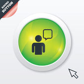 Chat sign icon. Speech bubble symbol. — Stock Photo