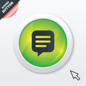 Chat sign icon. Speech bubble symbol. — Foto de Stock