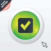 チェック マーク記号のアイコン。チェック ボックス ボタン. — ストック写真