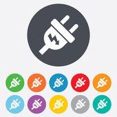 Stekker teken pictogram. macht energie symbool. — Stockvector