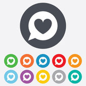 Chat sign icon. Speech bubble symbol. — Stockvector