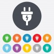 Electric plug sign icon. Power energy symbol. — Stock Photo