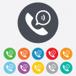 Phone sign icon. Support symbol. — Stock Photo #43204911
