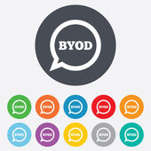 BYOD sign icon. Bring your own device symbol. — Stock Photo