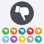 Dislike sign icon. Hand finger down symbol. — Stock Photo