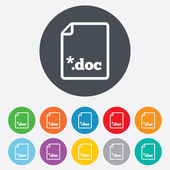 File document icon. Download doc button. — Stock Photo