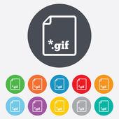 Gif-teken bestandspictogram. Download imagebestand. — Stockfoto