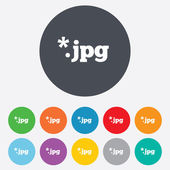 File JPG sign icon. Download image file. — Stock Photo