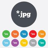 Icono de signo de archivo jpg. descargar archivo de imagen. — Foto de Stock