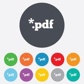 PDF file document icon. Download pdf button. — Stock Photo