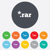 Archive file icon. Download RAR button. — Stock Photo