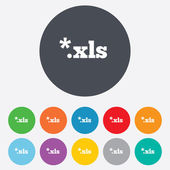 Excel file document icon. Download xls button. — Stock Photo