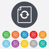 File document refresh icon. Reload doc symbol. — Stock Photo