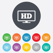 HD widescreen tv. High-definition symbol. — Stock Photo