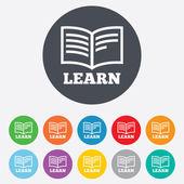 Learn Book sign icon. Education symbol. — Stock fotografie