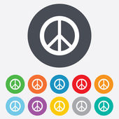 Peace sign icon. Hope symbol — Stock Photo